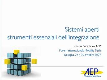 Sistemi aperti, strumento essenziale dell'integrazione