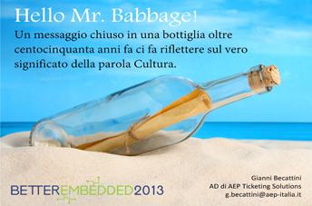 Hello Mr. Babbage!