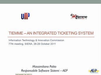 Tiemme – an integrated ticketing system