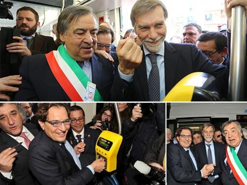 Inaugurata la tranvia di Palermo