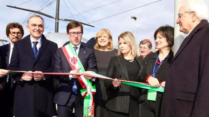 Launch of line 2 of the Florence Tramway